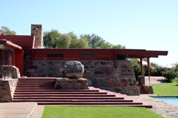 green architecture before its time frank lloyd wright taliesin west traveling with. Black Bedroom Furniture Sets. Home Design Ideas