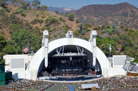Hollywood Bowl concert amphitheater in Los Angeles