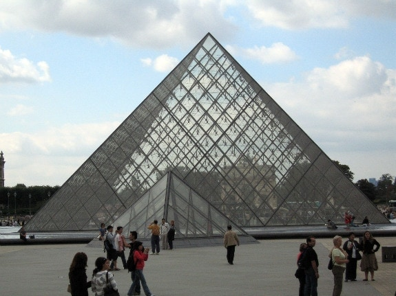 Louvre Pyramid in Paris