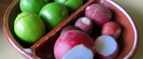radishes and limes