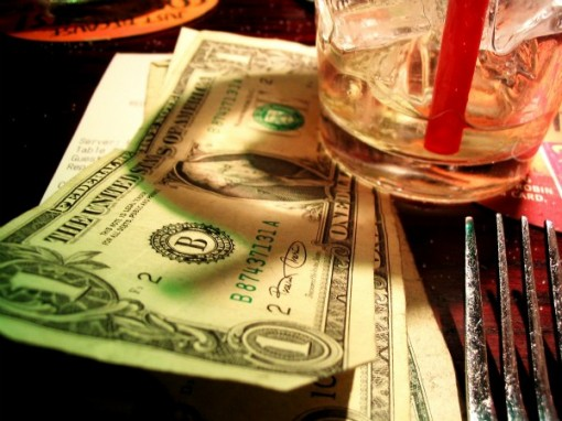 tipping in a bar
