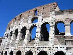 Arches of Roman Coliseum, photo by MJ