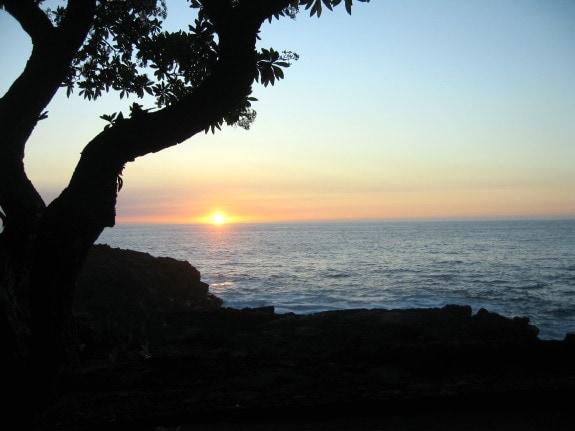 Hawaiian sunset as seen in Kona