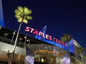 STAPLES Center entrance