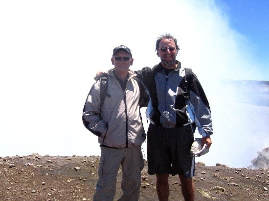 At the summit of Mt Etna