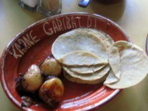 grilled onions at Karne Garibaldi