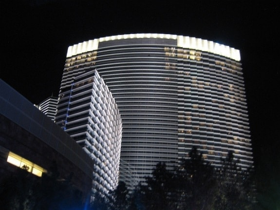 Exterior ARIA at night