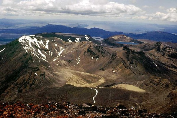 Mount Tongariro in New Zealand