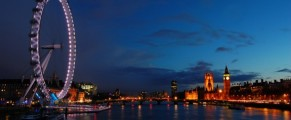London Eye and city of London