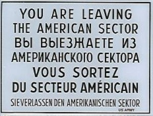 Check Point Charlie sign, Berlin
