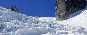 Glaciers in Chamonix Valley