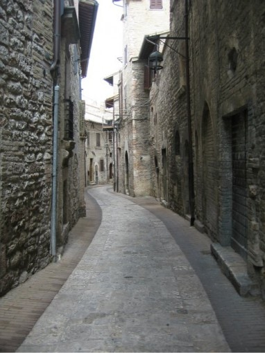 Assisi road Italy