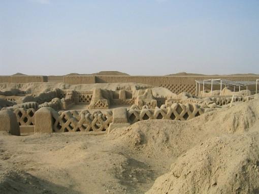 Chan Chan adobe ruins Peru