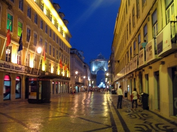 Old Town at Night, Lisbon, Portugal