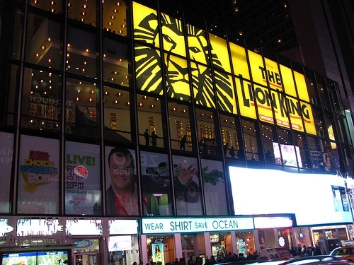 The Lion King on Broadway at the Minskoff Theatre