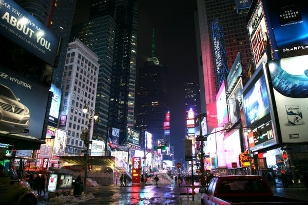 New York City, Manhattan, Theatre District, Times Square, Broadway Ave.