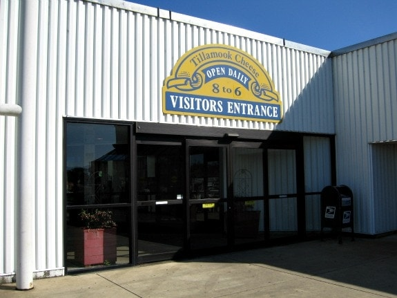 Entrance to Tillamook Cheese factory
