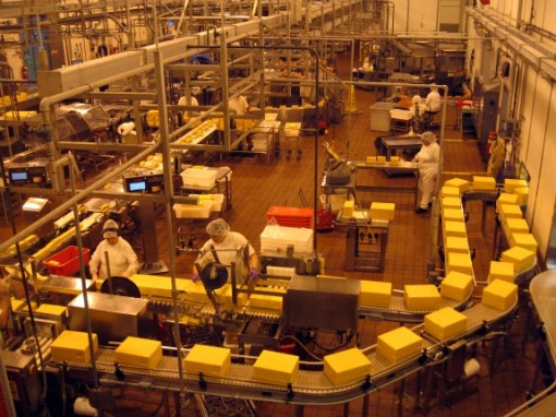 Product line at Tillamook Cheese Factory