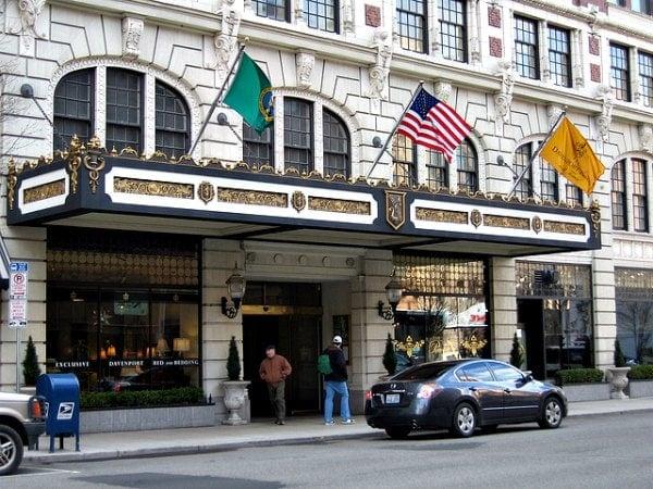 exterior of Davenport Hotel, Spokane