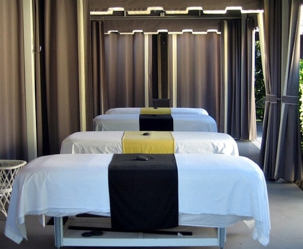spa treatment tables