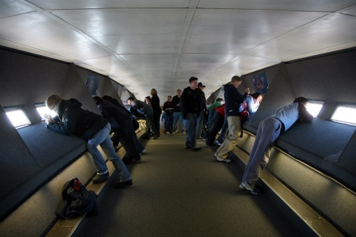 Observation deck of St Louis Arch