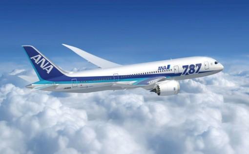 ANA 787 in flight
