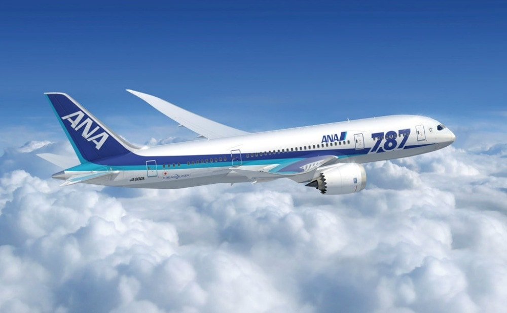 ANA 787 in flight