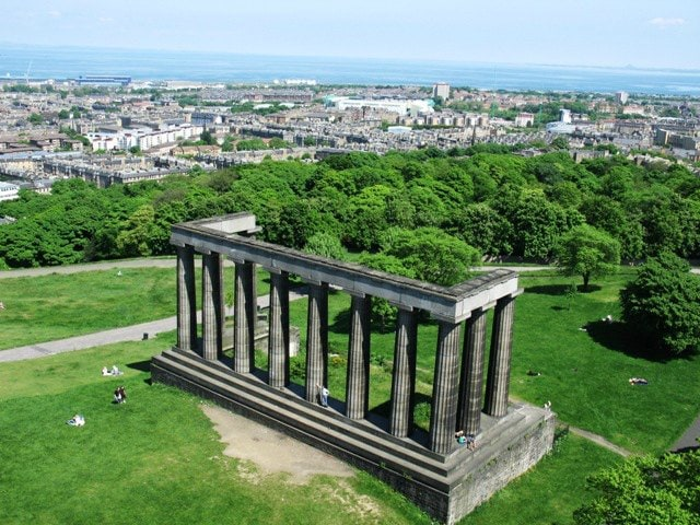 National Monument and Carlton Hill Edinburgh