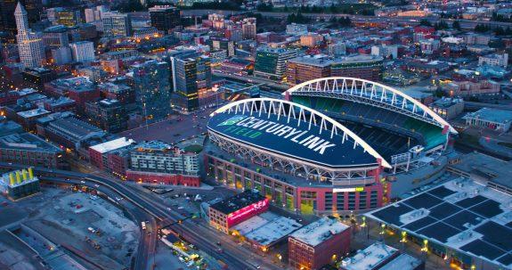Century Link Field Sports Stadium Aerial View