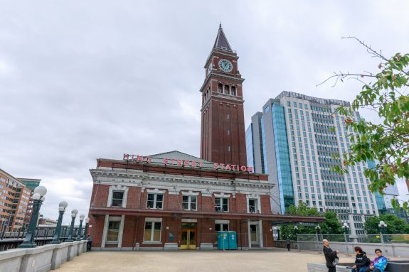 King Street Station is a train station built in 1906, with clock tower as the local landmark.