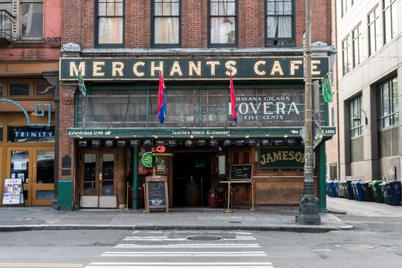 The Merchants Cafe is the oldest bar/restaurant in Seattle.