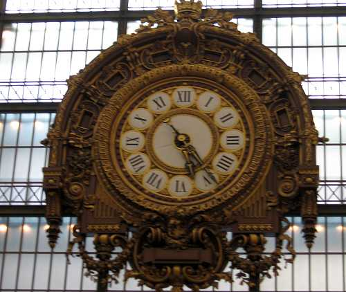 Clock at the D'Orsay in Paris