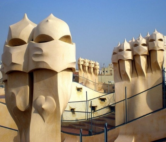 Gaudi's la podrera in Barcelona, Spain