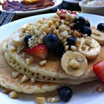 Postcard:  Macadamia Nut Pancakes in Hawaii