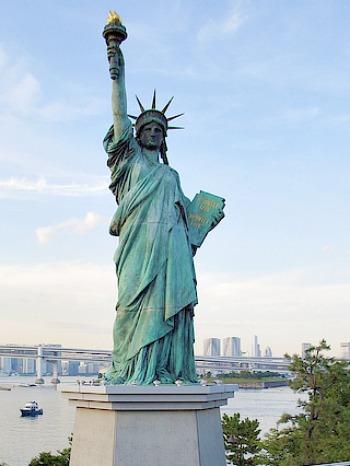 Statue of Liberty on Odaiba, Tokyo, Japan