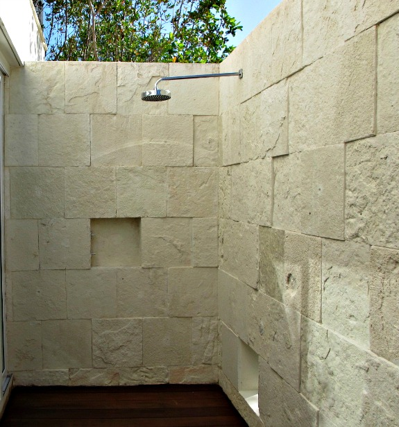 outdoor shower in Mexico