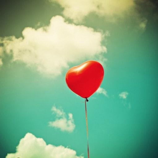 heart balloon romance round uo