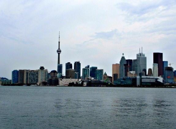 Toronto skyline across the water