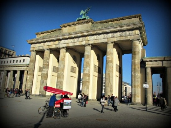 Brandenburg Gate in Berlin. Germany
