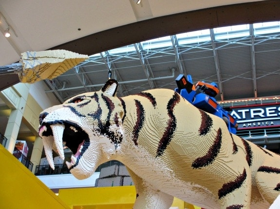 Lego tiger at Nickelodeon Universe at Mall of America