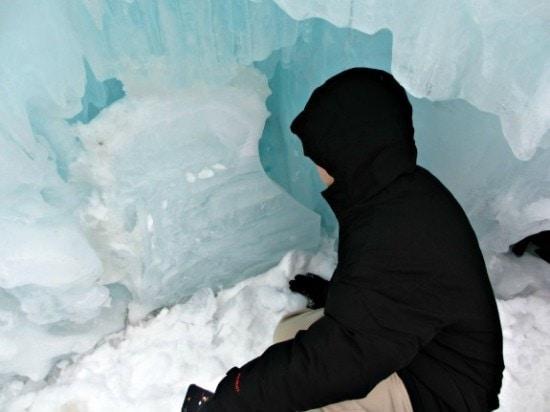 peering into the ice maze