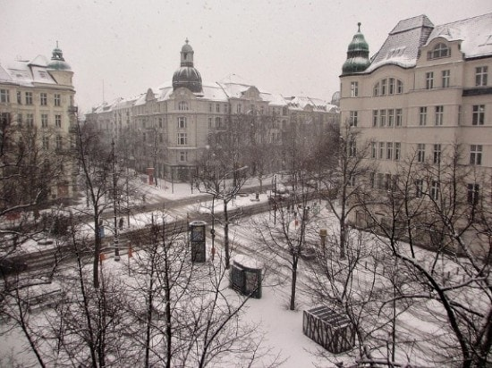 A dusting of snow in Berlin