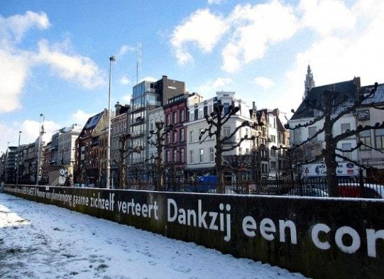 Along the river in Antwerp