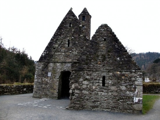 remains of a stone church in Ireland
