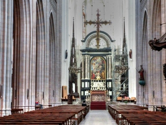 Interior of Cathedral Belgium