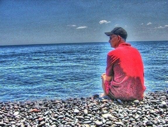 Looking at the Ionian Sea in Croatia