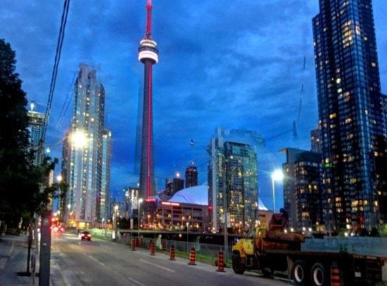 Toronto at night, post-TBEX