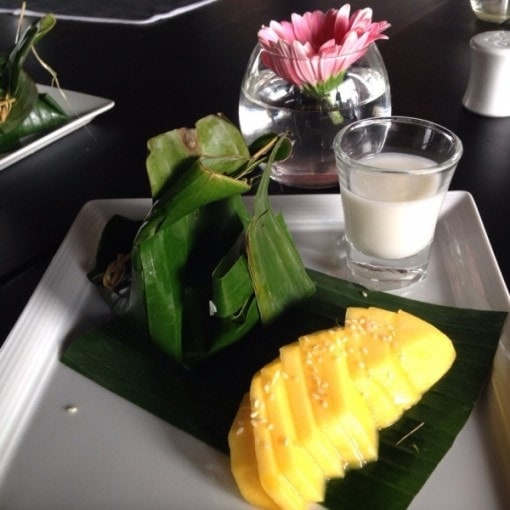 Mango and sticky rice for dessert