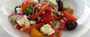 The traditional Horiatiki Salad
