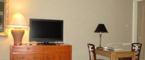 Work area of room 5714 of Yokohama Royal Park Hotel